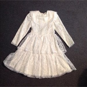 Vintage Girls Lace Gunne Sax Party Dress 8